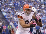 Cleveland Browns' Jordan Cameron in action on October 21, 2012