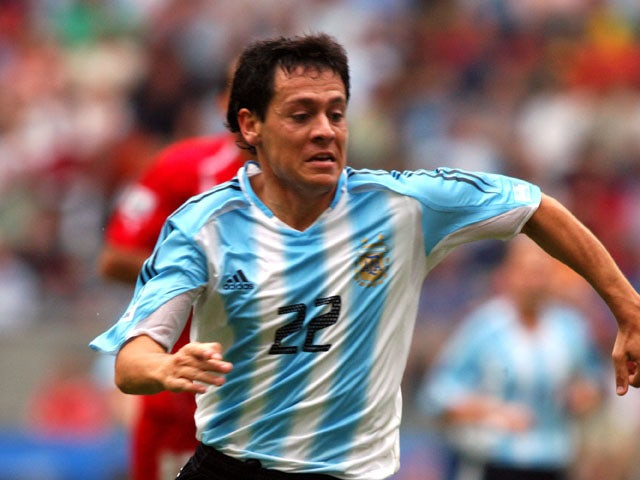 Argentina's Luciano Galletti during the match against Tunisia on June 15, 2005