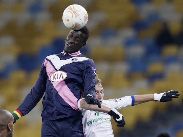 Bordeaux's Ludovic Sane in action against Dynamo Kiev on February 14, 2013