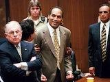 OJ Simpson at his 1995 trial.