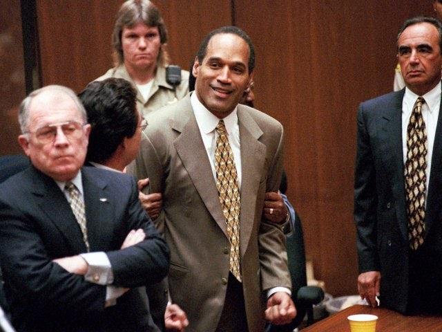 OJ Simpson at his 1995 trial.