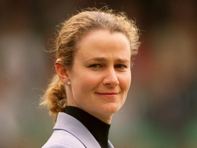 Pam Shriver at the Parade of Champions at Wimbledon in 2000.