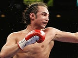 Paulie Malignaggi during a fight against Jose Miguel Cotto on April 9, 2011