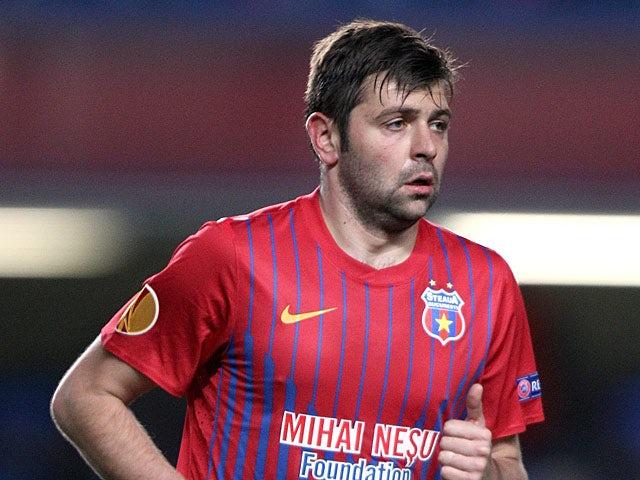 Steaua Bucuresti's Raul Rusescu in action on March 14, 2013