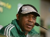 Nigeria's head coach Stephen Keshi during a press conference on June 16, 2013