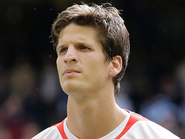 Switzerland's Timm Klose prior to kick off against Mexico on August 1, 2012