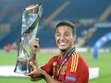 Spain's Thiago celebrates winning the u21 Euro Champs on June 18, 2013