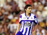 Deportivo la Coruna's Abel Aguilar in action on August 25, 2012