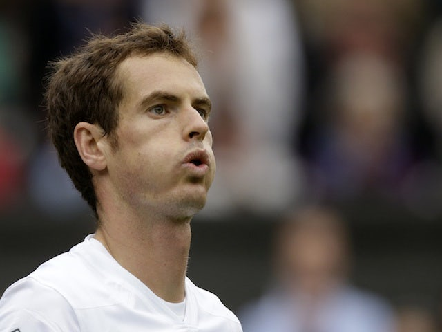 Andy Murray in action against Benjamin Becker on June 24, 2013
