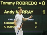 Andy Murray in action against Tommy Robredo on June 28, 2013