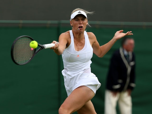 Caroline Wozniacki during her win over Estrella Cabeza Candela on June 24, 2013