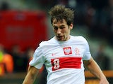 Poland's Grzegorz Krychowiak controls the ball during their World Cup Group H qualifying soccer match with England on October 17, 2013