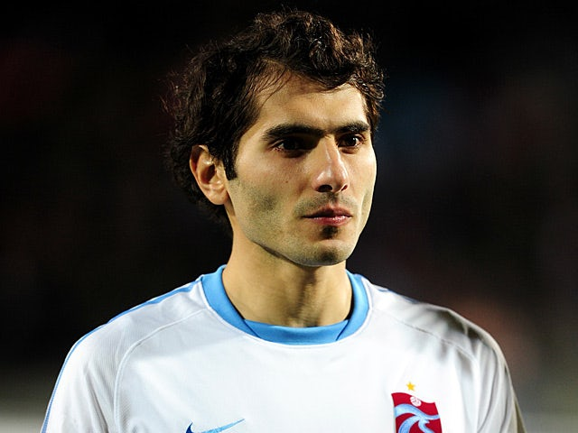 Trabzonspor's Halil Altintop in action on December 7, 2011