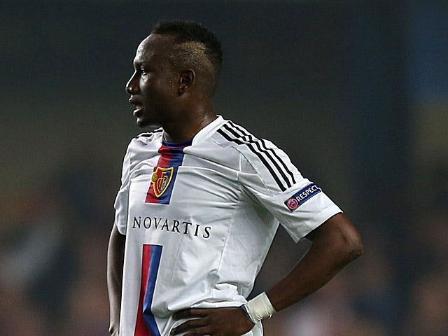 Basel's Jacques Zoua in action on May 2, 2013