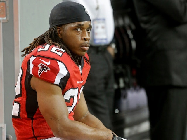 Falcons' Jacquizz Rodgers sits during a game against Tampa Bay on December 30, 2012