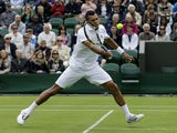 Jo-Wilfried Tsonga in action against David Goffin on June 24, 2013