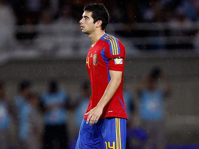 Spain's Jordi Amat in action on August 14, 2011
