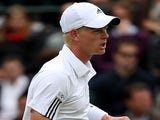 Kyle Edmund in action against Jerzy Janowicz on June 24, 2013