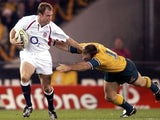 Kyran Bracken in action for England against Australia.