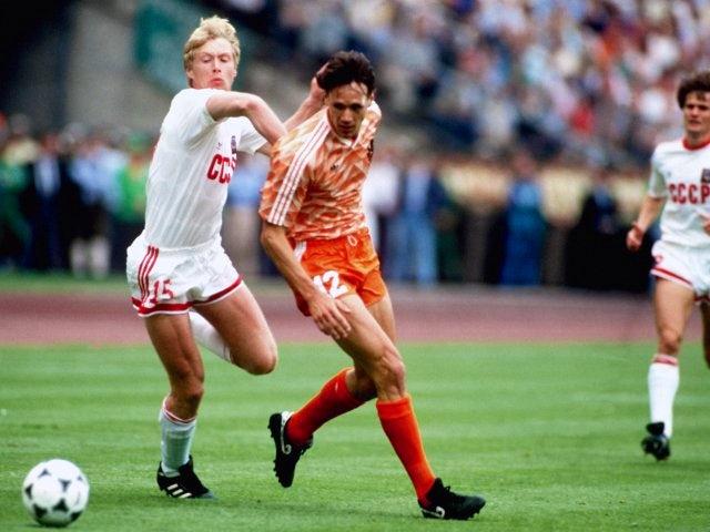 Marco van Basten in action during the 1988 European Championships final.