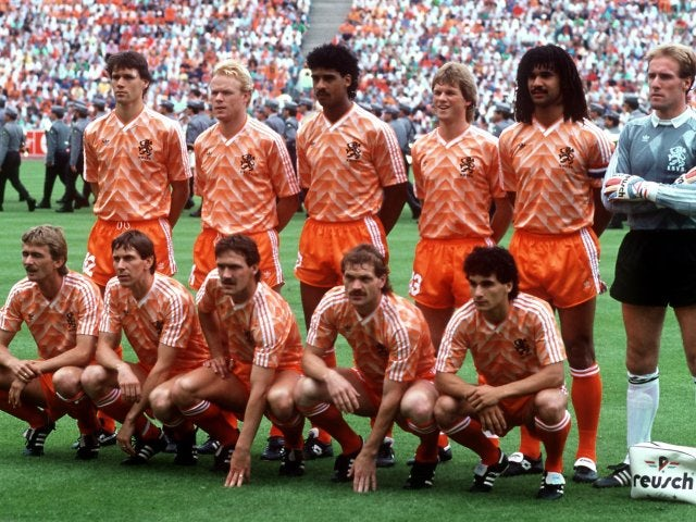 The Netherlands team before the final of Euro 1988.