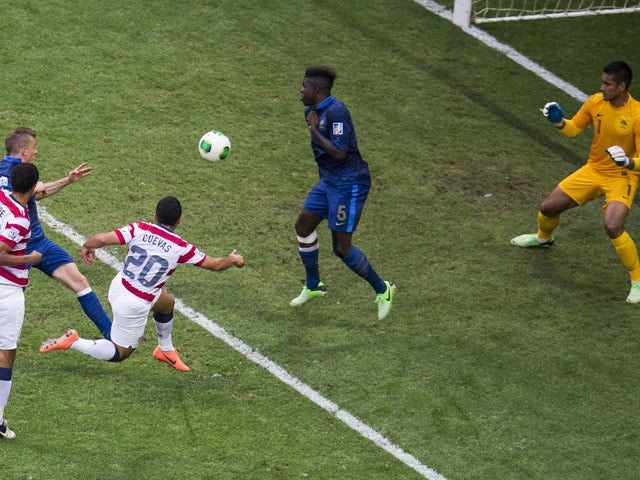 United States' Daniel Cuevas in the match against France during the Under 20 World Cup on June 24, 2013