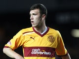 Motherwell's Fraser Kerr in action during the match against Rangers on September 29, 2012