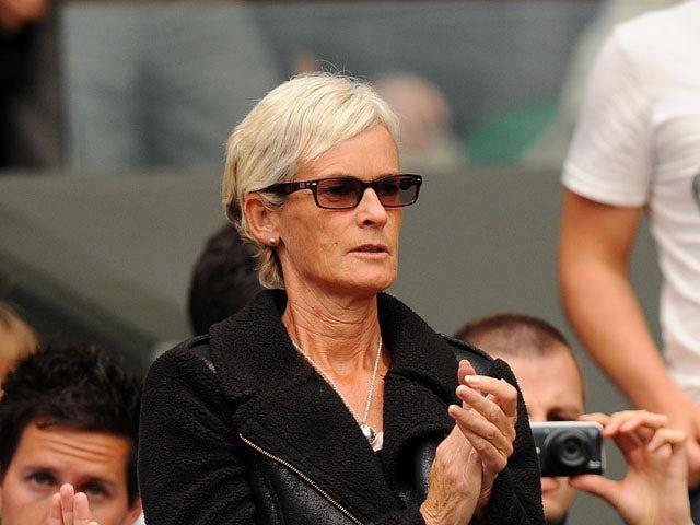 Judy Murray watches her son Andy Murray play Fernando Verdasco on July 3, 2013