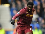 Manchester City's Kolo Toure in action during the match against Everton on March 16, 2013