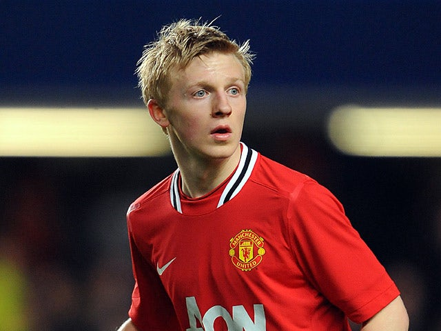 Manchester United's Mats Daehli in action during the FA Youth Cup on April 13, 2012