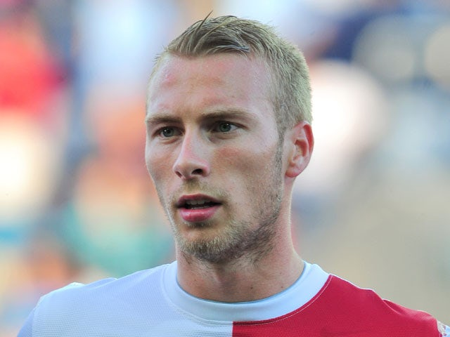 Mike van der Hoorn playing for the Netherlands during their match against Spain on June 12, 2013
