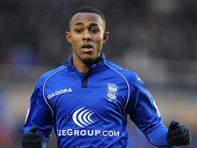 Birmingham City's Rob Hall in action on January 19, 2013