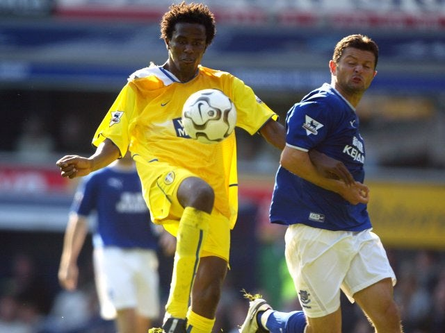 Roque Junior in action for Leeds United.