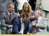 Former Manchester United manager Sir Alex Ferguson in the Royal Box during day nine of the Wimbledon Tennis Championships on July 3, 2013