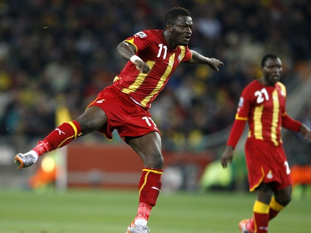 Sulley Muntari in action for Ghana at the 2010 World Cup.