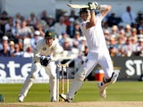 England's Kevin Pietersen in action during day two of the first Ashes Test on July 11, 2013