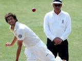 Australia's Ashton Agar in action against Worcestershire.