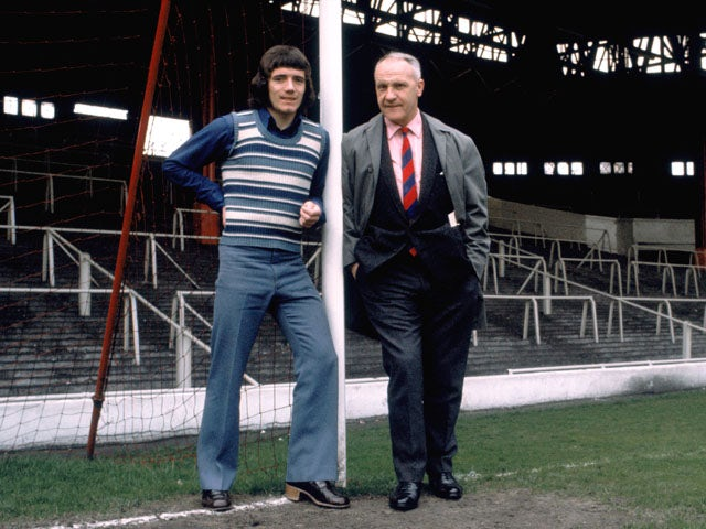 Liverpool manager Bill Shankly with Kevin Keegan on May 24, 2971