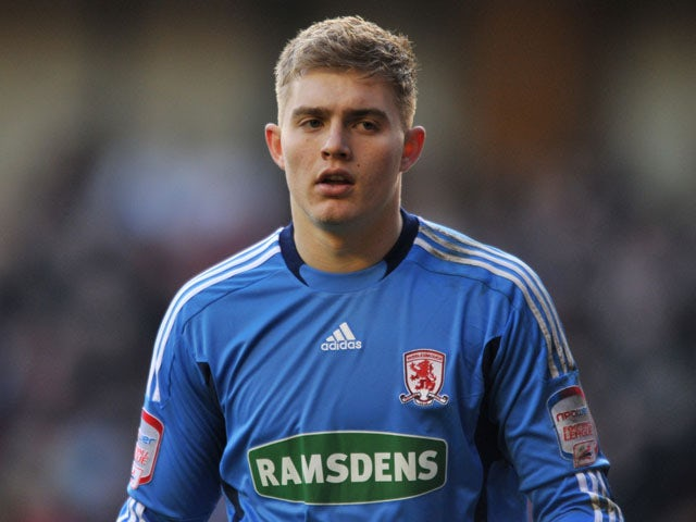 Middlesbrough goalkeeper Connor Ripley during the Championship match against Burnley on January 14, 2012