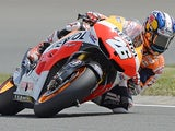 Honda's Dani Pedrosa in action during a free practise for the German Grand Prix on July 13, 2013