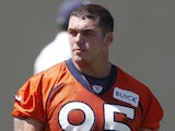 Broncos' defensive end Derek Wolfe at practice on June 11, 2013