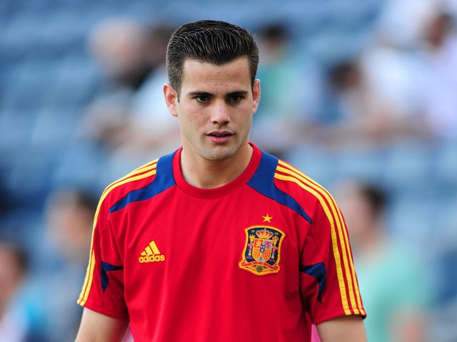 Spain's Fernandez Nacho during the European Under 21 Championship's match against Russia on June 6, 2013