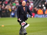 Fulham chairman Mohamed Al-Fayed prior the match against Stoke on February 23, 2013