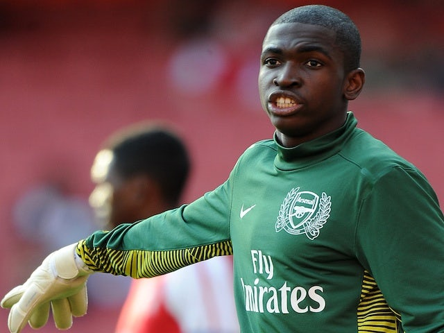 Reice Charles-Cook in action for Arsenal on October 23, 2011