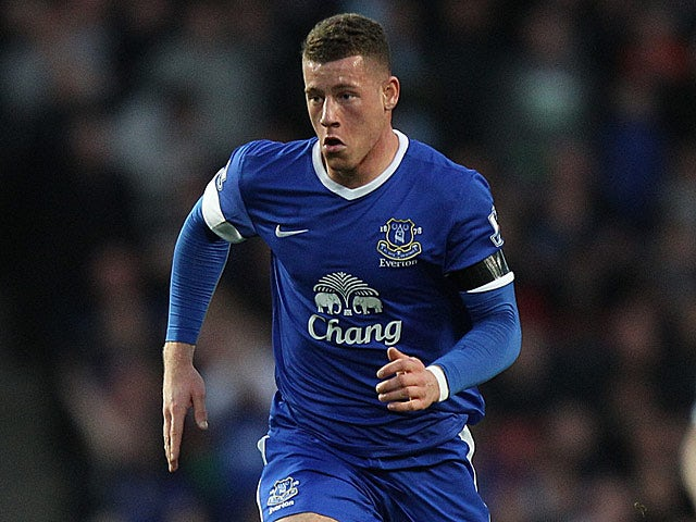 Everton's Ross Barkley in action on April 16, 2013