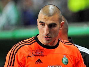 St Etienne goalkeeper Stephane Ruffier during the match against Auxerre on October 1, 2011
