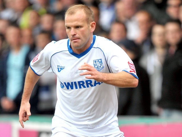 Tranmere Rovers' Andy Robinson during the League One match against Stockport County on May 8, 2010