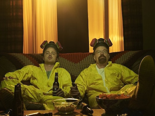 Walt and Jessie in a promo shot for Breaking Bad