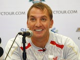 Liverpool manager Brendan Rodgers sporting white teeth in Jakarta on July 18, 2013