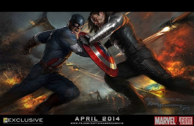 Comic-Con poster for Captain America: The Winter Soldier (640w)